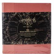 """Red Graphic 45 Staples Mixed Media Album 8""""X8"""""""