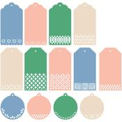 Classic Tags With Fillable Elements Pinkfresh Studio Essentials Die Set