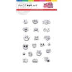 No Pun Intended 2x3 Stamp Smiley Faces - Photoplay