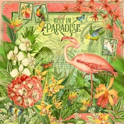 Lost In Paradise Paper - Lost In Paradise - Graphic 45