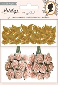 Paper Flowers and Gold Leaf Sequins - Heritage - Maggie Holmes