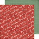 Merry Christmas Paper - Winter Wonderland - Crate Paper - PRE ORDER