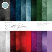 Grunge-Dark Tones 12x12 Craft Consortium Double-Sided Paper Pad