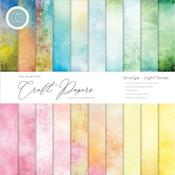 Grunge-Light Tones 12x12 Craft Consortium Double-Sided Paper Pad