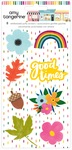 Embossed Puffy Stickers - Slice of Life - Amy Tangerine