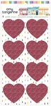Glitter Heart Stickers - Slice of Life - Amy Tangerine