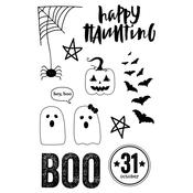 Boo Happy Haunting Photopolymer Clear Stamps