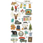 Happy Trails Chipboard Stickers - Simple Stories