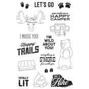 Let's Go Happy Trails Photopolymer Clear Stamps - Simple Stories