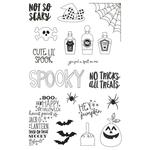 Say Cheese Halloween Photopolymer Clear Stamps - Simple Stories