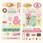 Confection Elements Cardstock Die Cut Accent Sheet - Authentique