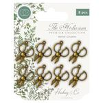Brass Herb Scissors Metal Charms - Craft Consortium