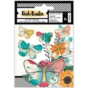 Wildflower & Honey Layered Butterfly Stickers - Vicki Boutin