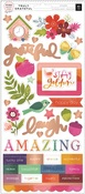 Truly Grateful Matte Copper Foil Stickers - Pink Paislee