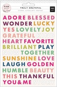 Truly Grateful Matte Copper Foil Word Stickers - Pink Paislee