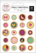Truly Grateful Epoxy Wood Buttons - Pink Paislee - PRE ORDER