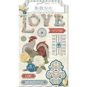 Layered Chipboard Stickers - Boulevard - Bo Bunny