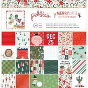 Merry Little Christmas 12 x 12 Paper Pad - Pebbles