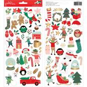 Merry Little Christmas Stickers - Pebbles