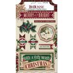 Christmas Treasures Layered Stickers - Bo Bunny