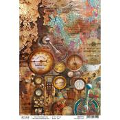 Collateral Rust A4 Paper Sheet - Ciao Bella