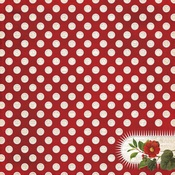 Cheery Foil Accented Paper - Yuletide - My Minds Eye