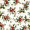 Berry Foil Accented Paper - Yuletide - My Minds Eye