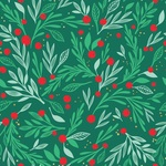 Deck The Halls Foil Accented Paper - Holly Jolly - My Minds Eye - PRE ORDER