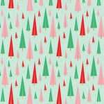 Festive Forest Foil Accented Paper - Holly Jolly - My Minds Eye