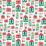 Up On The Housetop Foil Accented Paper - Holly Jolly - My Minds Eye - PRE ORDER