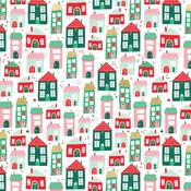 Up On The Housetop Foil Accented Paper - Holly Jolly - My Minds Eye