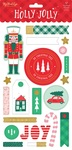 Holly Jolly Chipboard Embellishments - My Minds Eye