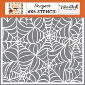 "Spooky Spiderweb 6""X6"" Stencil - Echo Park"