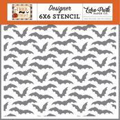 """Going Batty 6""""X6"""" Stencil - Echo Park"""