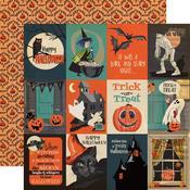 "3""X4"" Journaling Cards Paper - Happy Halloween - Carta Bella"