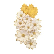 White Christmas Flowers - Christmas In The Country - Prima