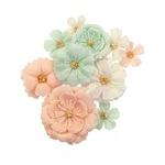 Blush & Mint Flowers - Apricot Honey - Prima