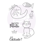 Snooty Cats Doll Stamps - Julie Nutting