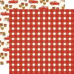 Red Gingham Paper - Fall Market - Carta Bella
