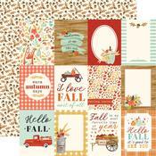 "3""X4"" Journaling Cards Paper - Fall Market - Carta Bella"