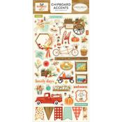 Accents Chipboard Pieces - Fall Market - Carta Bella