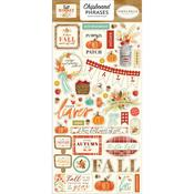 Phrases Chipboard Pieces - Fall Market - Carta Bella