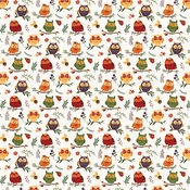 Whoo Loves You Paper - Mad 4 Plaid Fall - Photoplay