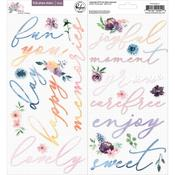 Just A Little Lovely Puffy Phrase Stickers - Pinkfresh