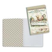Mad Hatter, Alice A5 Lined Notebook - Stamperia