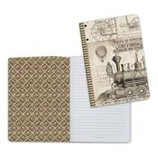 Train, Voyages Fantastiques A5 Lined Notebook - Stamperia