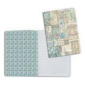 Patchwork 2, Azulejos A5 Lined Notebook - Stamperia