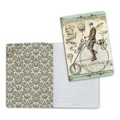Bicycle, Voyages Fantastiques A5 Lined Notebook - Stamperia