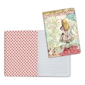 Alice A5 Lined Notebook - Stamperia
