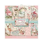 Pink Christmas 8x8 Paper Pad - Stamperia